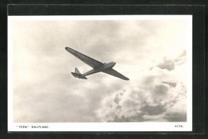 AK Segelflugzeug Tern Sailplane über den Wolken