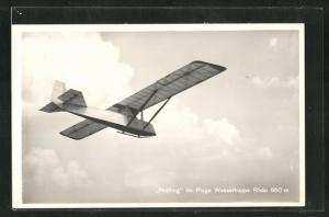 AK Segelflugzeug Prüfling im Fluge Wasserkuppe Rhön