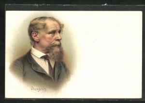 AK Portrait von Charles Dickens mit Bart