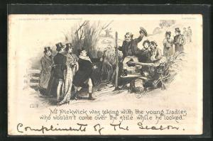 AK Mr. Pickwick was joking with the young Ladies who wouldn`t come over the stile while he looked