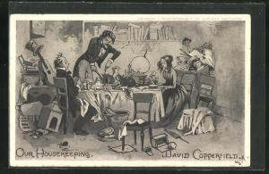 AK Our Housekeeping, David Copperfield, Roman von Charles Dickens
