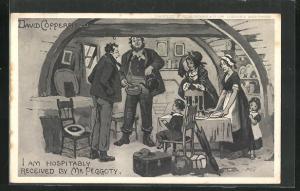 AK I am hospitably Received by Mr. Peggoty, David Copperfield, Roman von Charles Dickens