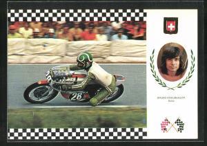 AK No. 16 Serie Gran Prix, Bruno Kneubuhler auf Moto Yamaha 42 CV