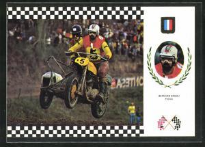 AK No. 1 Serie Side Cross, Bernard Brodu auf Triumph Motorrad