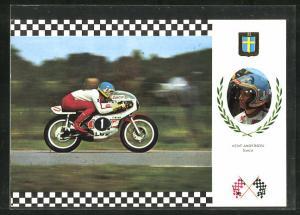 AK No. 17 Serie Gran Prix, Kent Anderson auf Yamaha 42 CV Motorrad