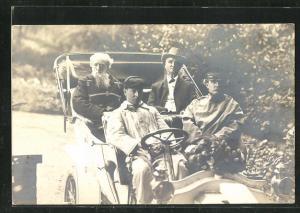 Foto-AK General Booth der Heilsarmee im Automobil