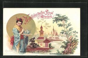 AK Chinareise des Passagierschiffes König Albert 1902, Norddeutscher Lloyd Bremen