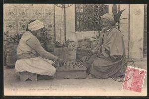 AK Arabes jouant aux Échecs, Araber beim Schachspiel