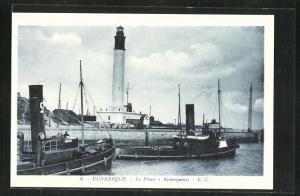 AK Dunkerque, Le Phare, Blick zum Leuchtturm