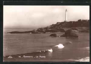 AK Biarrirtz, Le Phare, Blick zum Leuchtturm