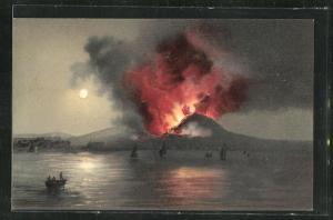 AK Napoli, Erruzione del Vesuvio