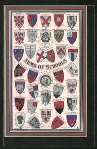 AK Arms of Schools, Wappen Ashbourne Grammar School, Odinham Grammar School und Sanbach Grammar School