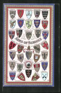AK Arms of Schools, Wappen Kendal Grammar School, Bedford County School und Cirencester Grammar School