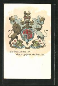 Präge-AK The Royal Arms of Great Britain and Ireland, Wappen
