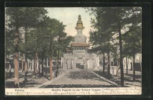 AK Peking, Marble Pagode in the Yellow Temple