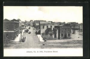 AK Atlanta, GA, Peachtree Street in 1864 Billiard Saloon