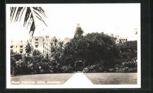 AK Honolulu, HI, Royal Hawaiian Hotel, Gartenanlage