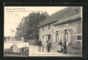 AK Zillisheim, Restauration zum Dampfschiff von Wwe. E. Dürrwell, Seminar
