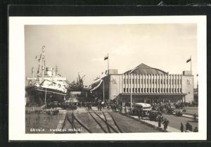 AK Gotenhafen / Gdynia, Dworzec Morski, Dampfschiff liegt am Kai