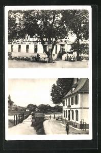 AK Neuf-Brisach, Pont du Rhin et Douanes Francaise, Hotel-Restaurant au Pont du Rhin