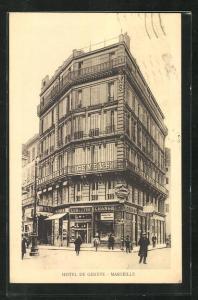 AK Marseille, Hotel de Geneve, Eckfassade