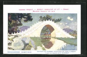 AK Pekin, le pont de Marbre, Fontaine de Jade