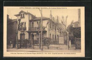 AK Biarritz, Hotel-Pension Les Roses Trianon, 83 Avenue Reine-Victoria