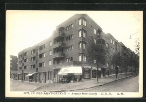 AK Le Pré-Saint-Gervais, Avenue Jean-Jaurès