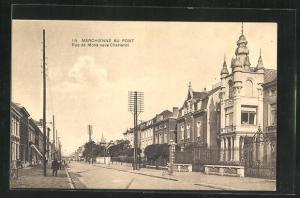 AK Marchienne au Pont, Rue de Mons vers Charleroi