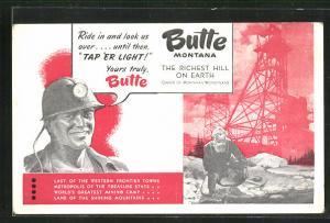 AK Butte, MT, Bergbau, Goldwäscher am Fluss