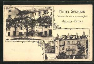 AK Aix-les-Bains, Ansichten vom Hotel Germain