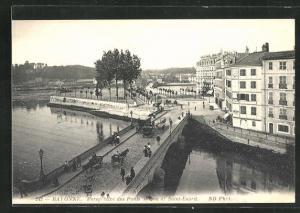 AK Bayonne, Perspective des Ponts Mayou et Saint-Esprit