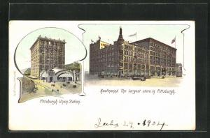 AK Pittsburg, PA, Union Station, Kaufmann`s The Largest store