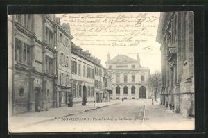 AK Montbeliard, Place St-Martin, La Caisse d`Epargue
