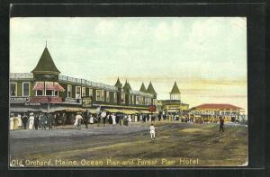 AK Old Orchard, ME, Ocean Pier and Forest Pier Hotel