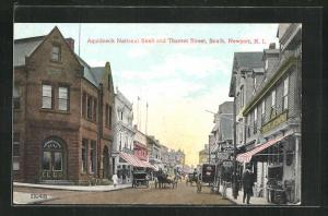 AK Newport, RI, Aquidneck National Bank and Thames Street, South