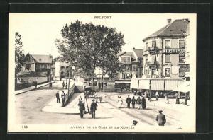 AK Belfort, Avenue de la Gare et la Montee