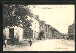 AK Paimpont, La Grande Rue, Häuserzeilen
