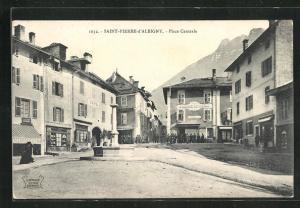 AK Saint-Pierre-d`Albigny, Place Centrale, Grande Epicerie, Cafe