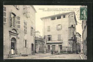 AK Figeac, Maison de Galiot de Genouillac, Grand Maistre d`Artillerie de France sous Francois Ier