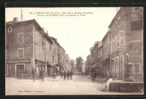 AK Langogne, Avenue du Marechal Foch, quartier de la Post