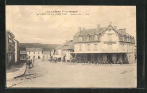 AK Camp de la Courtine, Avenue de la Gare