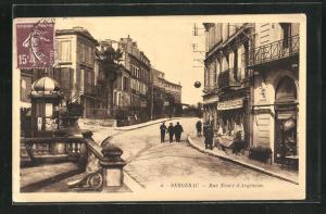 AK Bergerac, Rue Neuve d`Argenson, Häuserzeilen