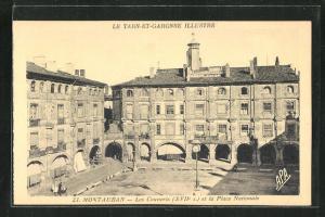 AK Montauban, Les Couverts et la Place Nationale