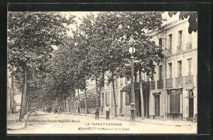 AK Moissac, Boulevard de la Gare, Hotel du Luxembourg