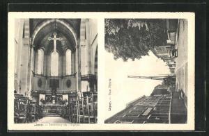 AK Ligny, Rue Haute, Interieur de l`Eglise