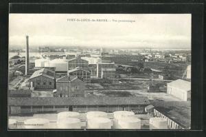 AK Port-St-Louis-du-Rhone, Vue panoramique, Fabrikanlage