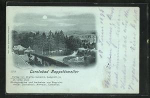 Mondschein-AK Rappoltsweiler, Carolabad