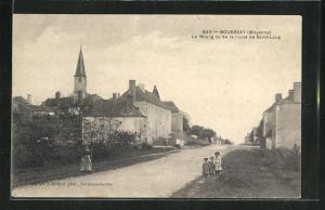 AK Bouessay, Le Bourg vu de la route de Saint-Loup