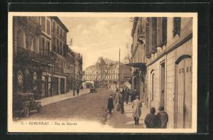 AK Bergerac, Rue du Marche, Strassenpartie